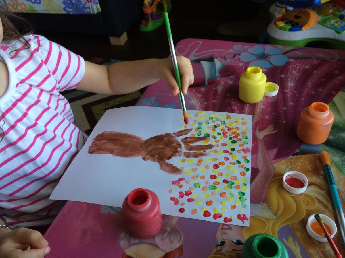 Mommy Monday – Fall HandprintTree