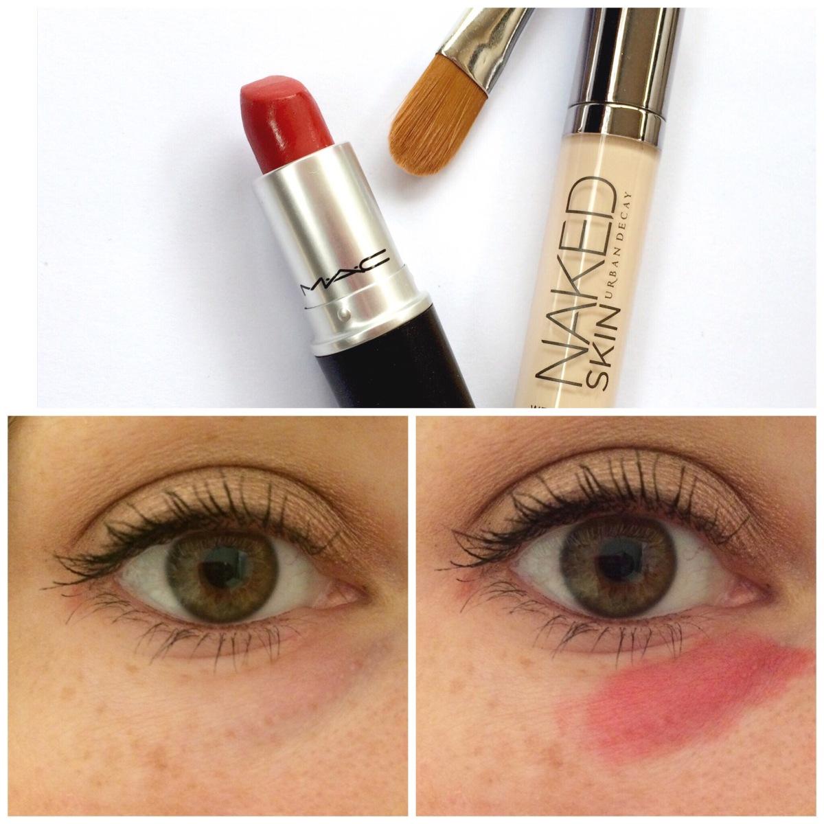 Red Lipstick as Under-eyeCorrector?