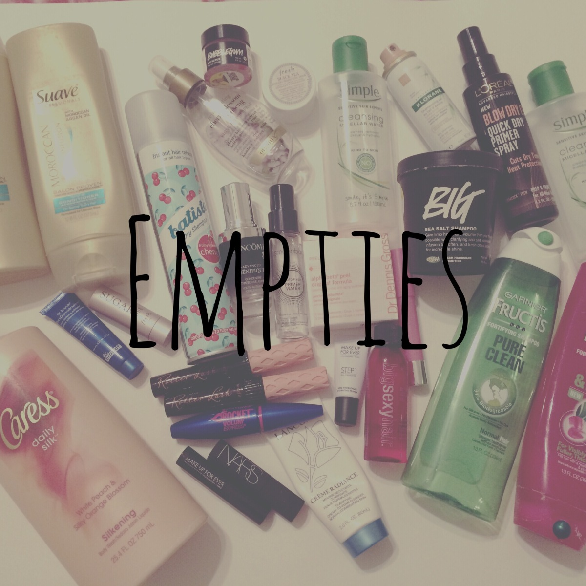EMPTIES (Products I've Used Up)