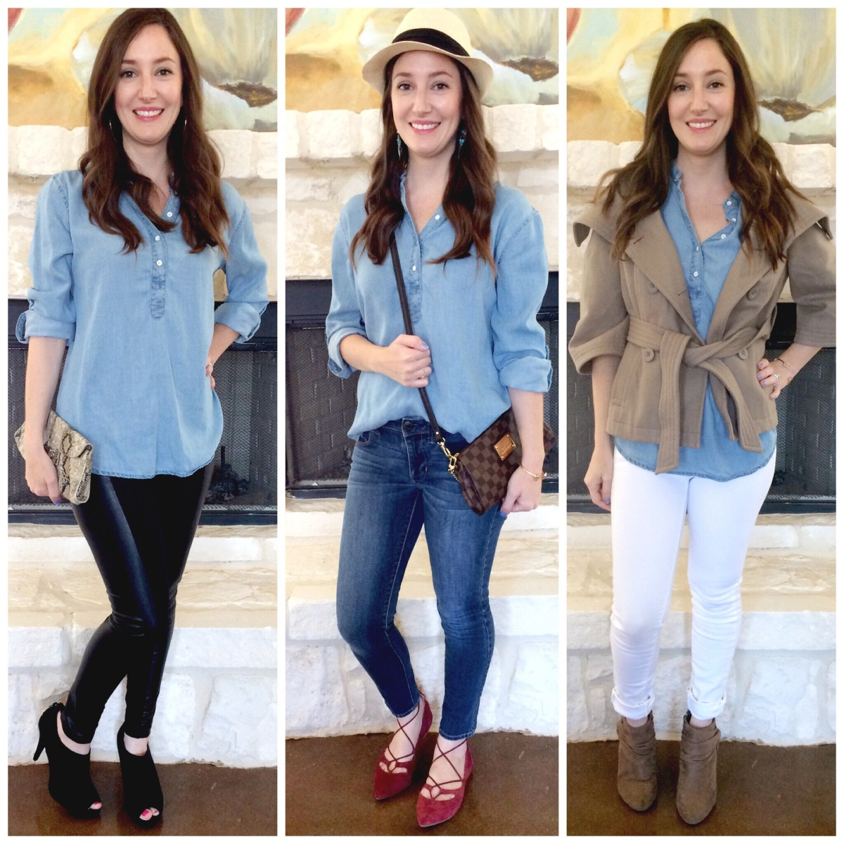 How To Style : Chambray Top