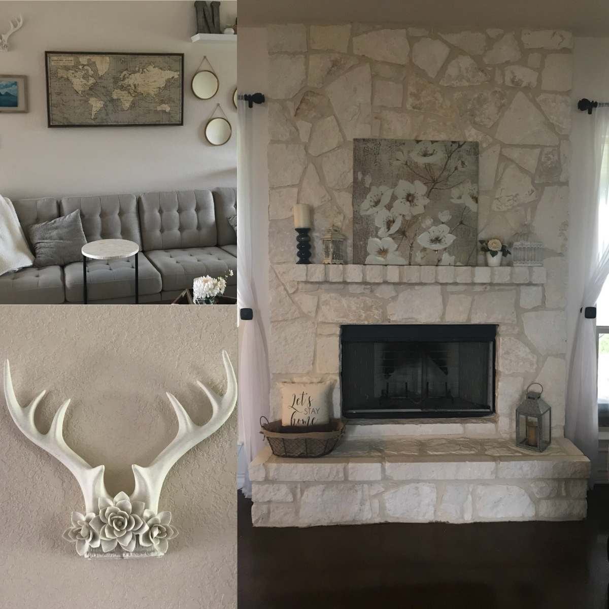 Rustic Farmhouse Decor | Fireplace / GalleryWall