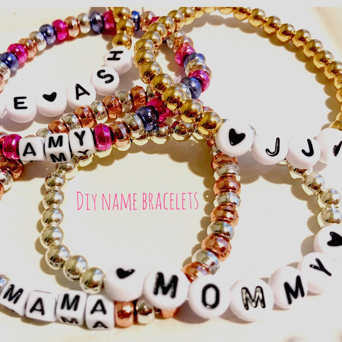 DIY Personalized Beaded Bracelets