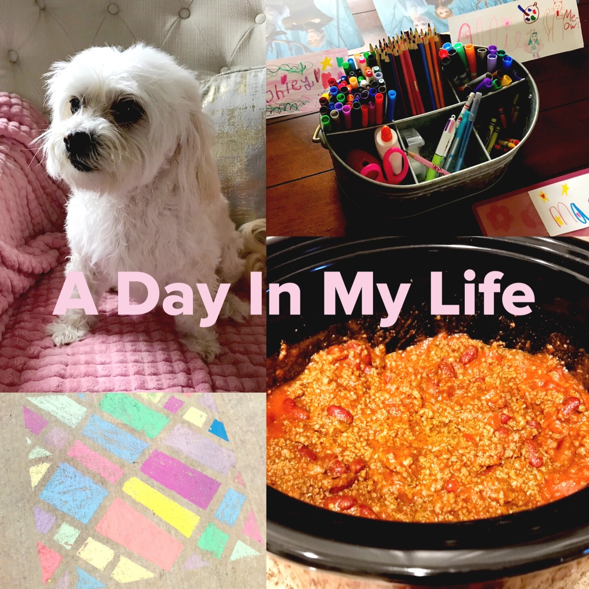 A Day In My Life | Homeschooling, Cookies, Chili, and Chalk