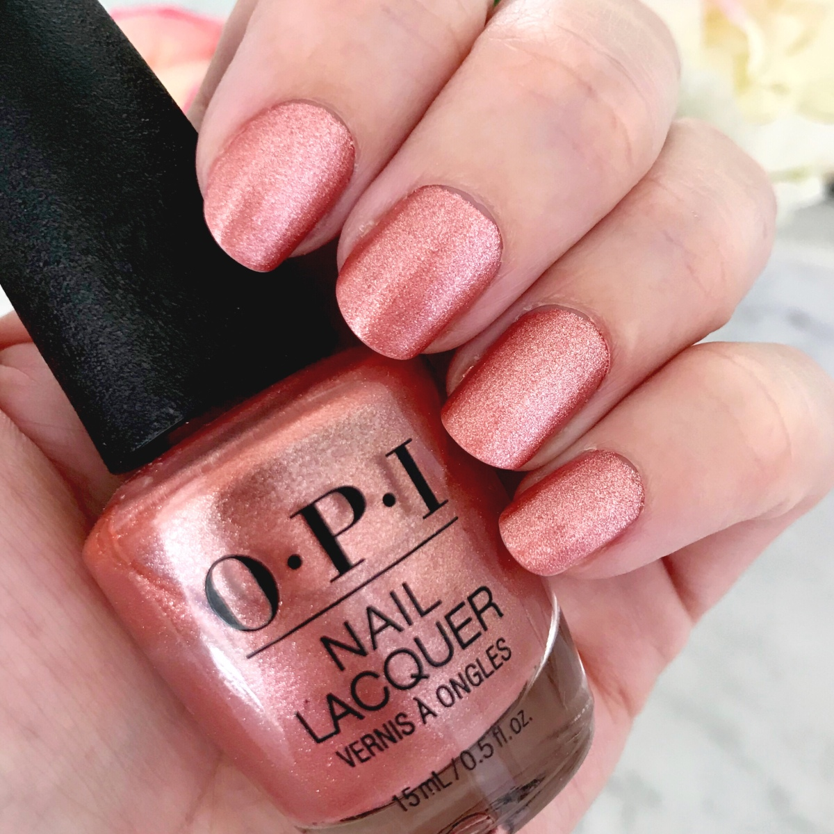 The Perfect Summery Rose Gold Nail
